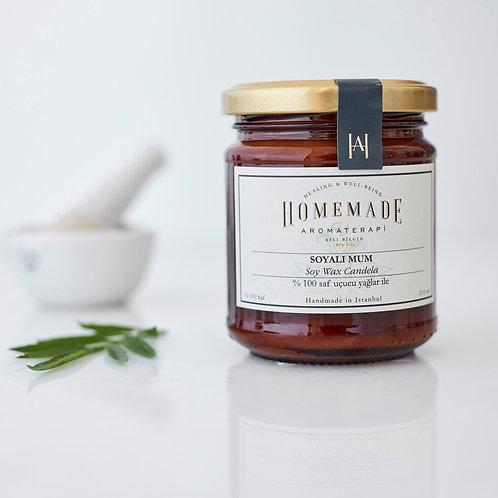 Homemade Aromaterapi KAVANOZDA SOYALI MUM - AMBERDE 210 ML