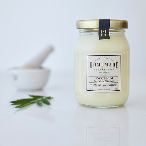 Homemade Aromaterapi KAVANOZDA SOYALI MUM - ORTA 190 ML