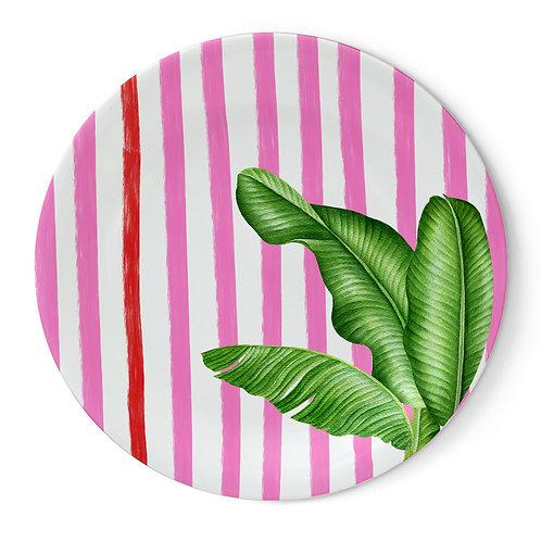 Fern&Co. Miami Pink Beach Collection 4'lu Büyük Tabak Seti