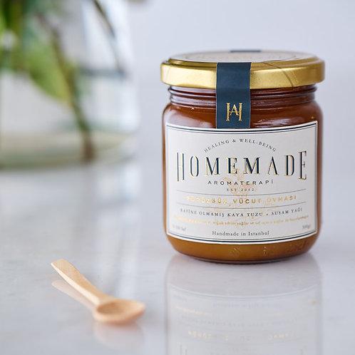 Homemade Aromaterapi PÜRÜZSÜZ VÜCUT OVMASI - 250 gr