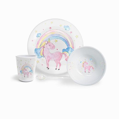 Fern&Co . Kids Magical Unicorn   4 Parça Yemek Seti