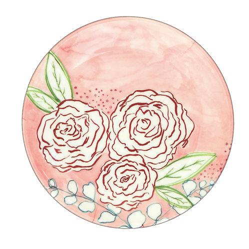 Fern&Co 4'lu Floral Collection Kucuk Tabak Seti