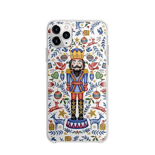 Vitelli Nutcracker Beyaz Desenli Silikon Telefon Kılıfı