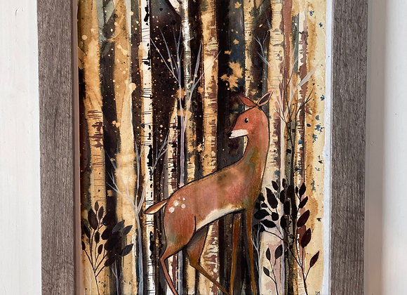 Custom 8 x 10 Original Painting - Oh Deer