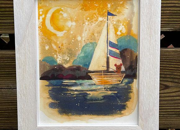 Custom 8 x 10 Original Painting - Sweet Dreams lil' Bear
