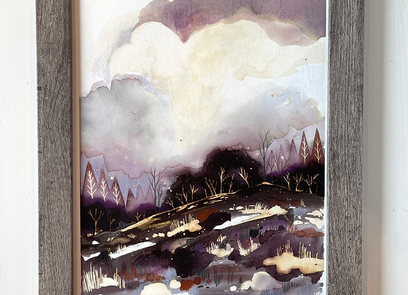 Custom 8 x 10 Original Painting - Winter in the Country