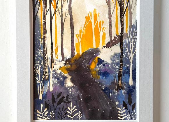 Custom 8 x 10 Original Painting - Magik Forest