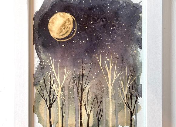 Custom 8 x 10 Original Painting - Silent Night