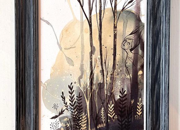 Custom 9 x 12 Original Painting - Forest Spirit