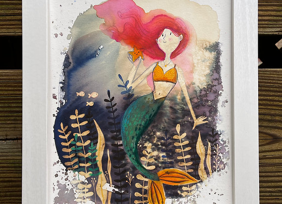 Custom 8 x 10 Original Painting - Mermaid