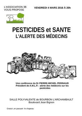 Conférence 3B Santé et Pesticides 2016