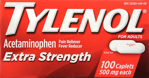 TYLENOL EXTRA STRENGTH CAPLET 100 CT