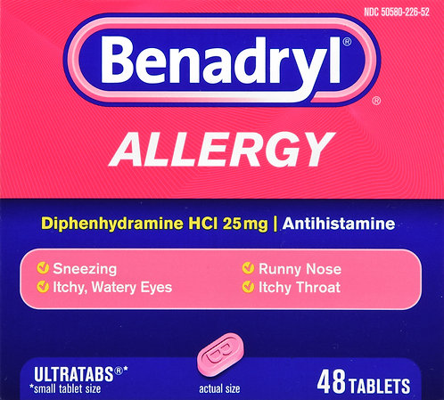 BENADRYL ULTRATAB 48CT