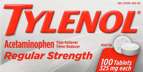 TYLENOL REGULAR STRENGTH TABLET 100 CT