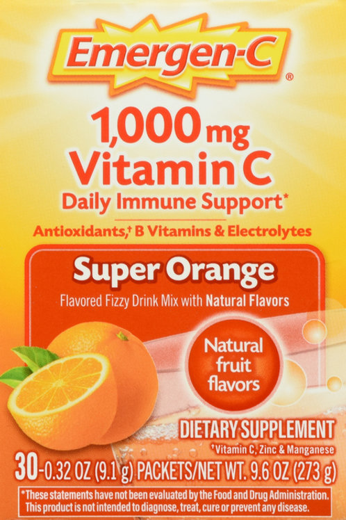 EMERGEN-C VITAMIN C 1000MG ORANGE 30 CT