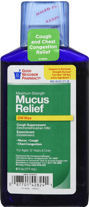 GNP MUCUS RELIEF DM MAX 6OZ