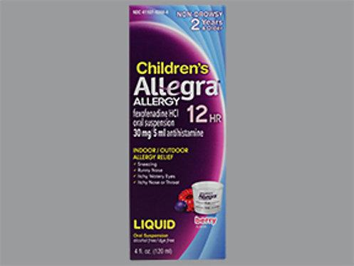 ALLEGRA OTC CHILD 12HR 30MG LIQ 4OZ CHT