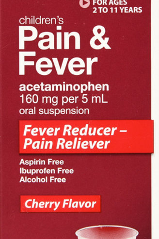 GNP PAIN RELIEF CHLD CHRY 160MG SUSP 4OZ