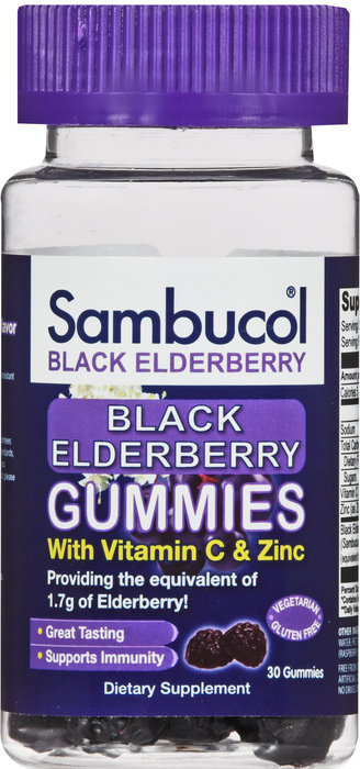 SAMBUCOL BLACK ELDERBERRY GUMMIES 30CT