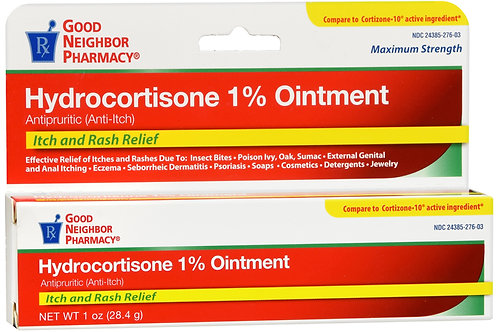 GNP HYDROCORTISONE 1 % ONT 1 OZ