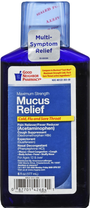 MUCUS RELIEF COLD FLU&THROAT MAX STR