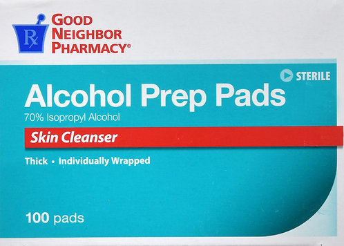 GNP ALCOHOL PREP PAD 100CT