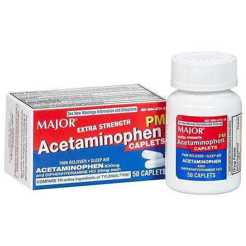 ACETAMINOPHEN PM-DIPHEN 500-25 MG CPL 50