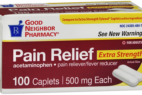 GNP PAIN RELIEF XS 500MG CPL 100CT