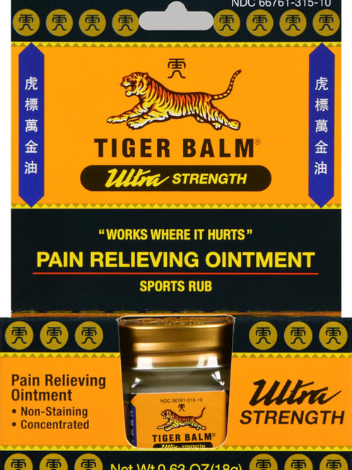 TIGER BALM OINTMENT ULTRA STRENGTH 18GM