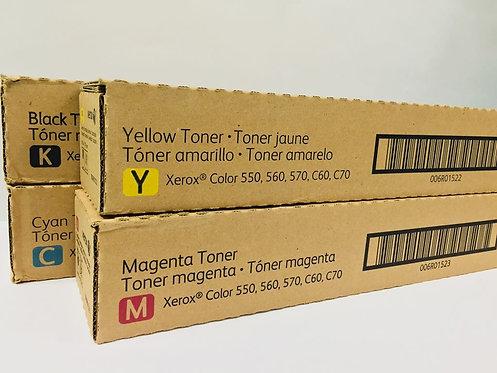 Set CMYK Xerox Çolor 550/560/570/C60/C70® 6R1521-6R1522-6R1523-6R1524