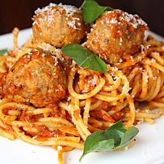 Spaghetti with meatballs