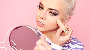 Vlogger maquiagem
