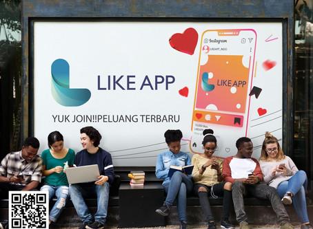 LIKEAPP INDONESIA siap menjelajahi pasar populasi terbesar di Asia Tenggara, yaitu Indonesia.