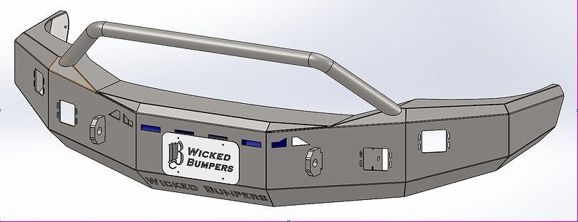 2003-2009 Ram Round Bullbar bumper (McCo