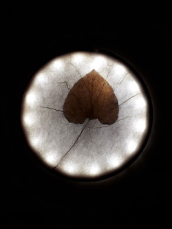Licht met vilt en blad