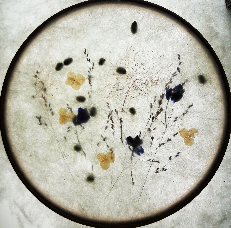 cirkel blauw bloemetje