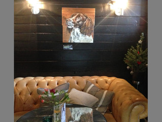 Sparkly Canvasses at The Blue Anchor