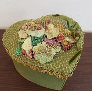 box with vintage flower