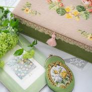 needlepoint sewing box