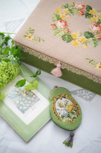 needlepoint sewing box