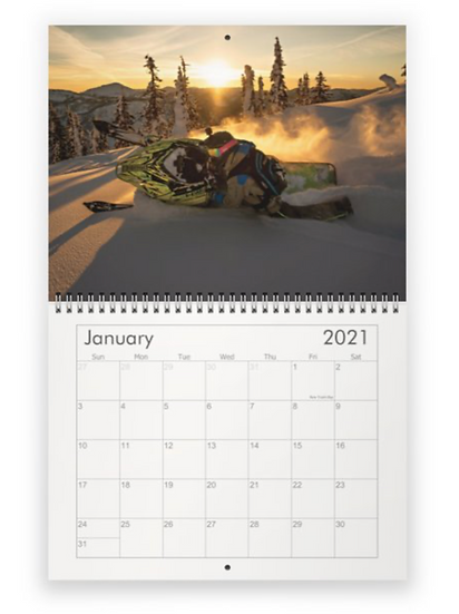 Sled Revelstoke 2021 Calendar