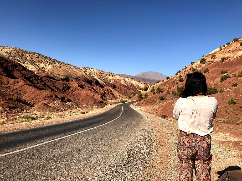 Road-between-Ait-ben-haddou-and-Telouet-