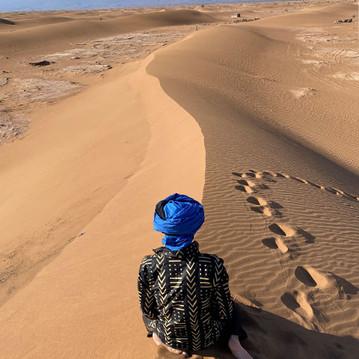 Sunrise over the Sahara...
