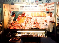 Young Angus and Old Angus on the stall C.1992