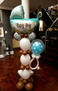 Baby Buggy Pillar with pacifier