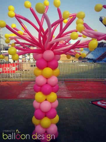 Pink & Yellow Funky Pillar