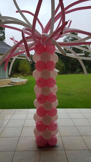 Pink & White Funky Pillar