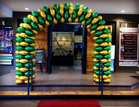 Gold & Green Foil Arch