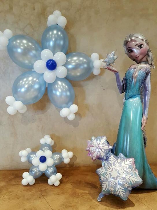 Frozen Snow Petal and Elsa