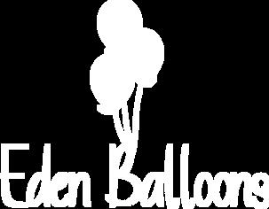 Eden Balloons white logo
